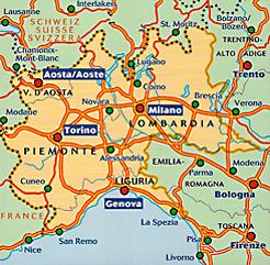 Norditalien Karte.Karten Tipps Italien